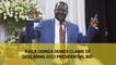 Raila Odinga denies claims of declaring 2022 presidential bid