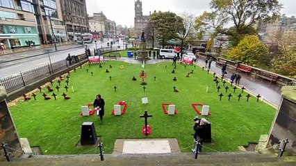 Edinburgh Garden of Remembrance opens on Princes St