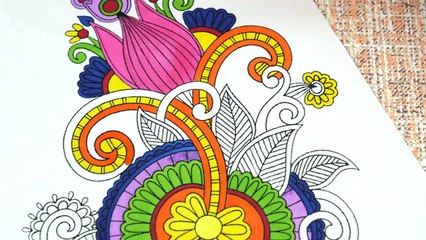 Oddly Satisfying Adult Coloring to Help You Sleep and Stress Relief