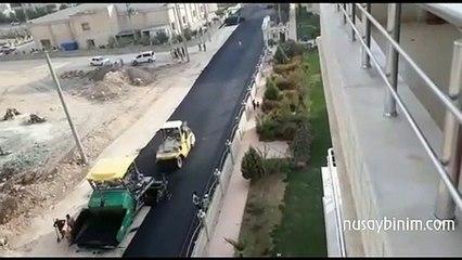 Nusaybin'de asfalt çalışmaları başladı