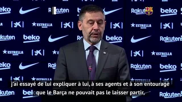 Barcelone - Bartomeu dévoile les coulisses du faux-départ de Messi cet été