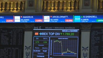El Ibex 35 se pasa a los retrocesos tras la apertura positiva y pierde el 0,8 %
