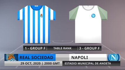 Match Preview: Real Sociedad vs Napoli on 29/10/2020