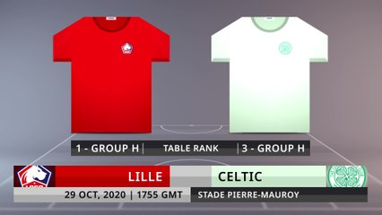 Match Preview: Lille vs Celtic on 29/10/2020