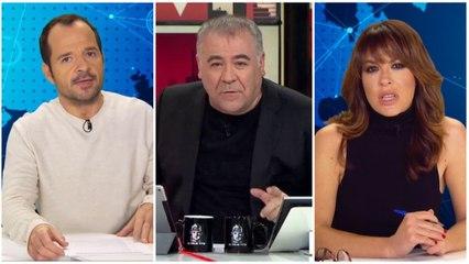 Ángel Martín y Mamen Mendizábal en el primer informativo de #0