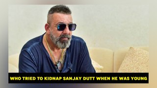 Who tried to kidnap Sanjay Dutt when he was young