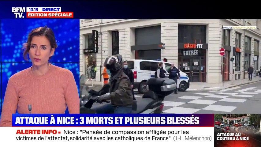 Attaque à Nice: le bilan s'alourdit à 3 morts et plusieurs blessés