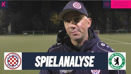 Die Spielanalyse | SD Croatia - Fortuna Biesdorf (Berlin-Liga)