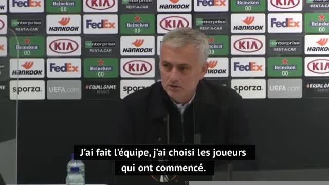 """Groupe J - Mourinho : """"J'aurais aimé faire 11 changements à la pause"""""""
