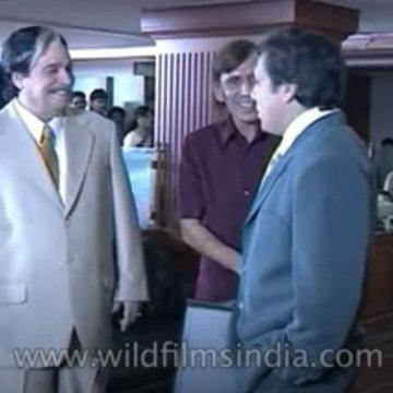 Govinda and Kadar Khan shoot for film 'Joru Ka Ghulam'