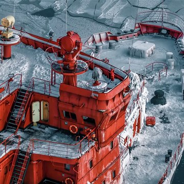 75 000 h.p. The Biggest Nuclear Icebreaker -- 75 000 л.с. Атомный Ледокол Ямал