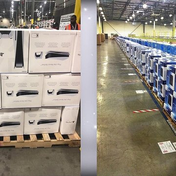 PS5s Arrived in the Warehouse Today!!!