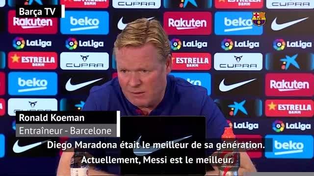 """8e j. - Koeman : """"On ne peut pas comparer Messi et Maradona"""""""