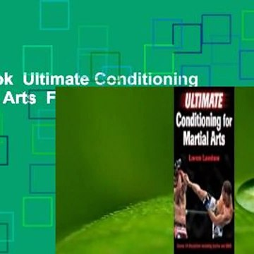 Full E-book  Ultimate Conditioning for Martial Arts  For Online