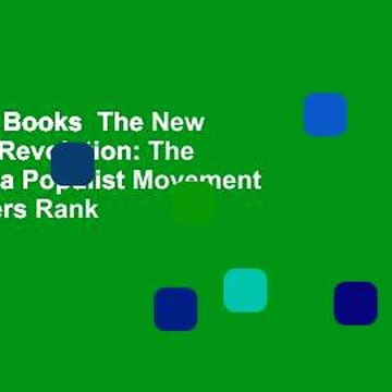 About For Books  The New American Revolution: The Making of a Populist Movement  Best Sellers Rank