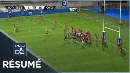 PRO D2 - Résumé AS Béziers Hérault-Oyonnax Rugby: 23-29 - J8 - Saison 2020/2021