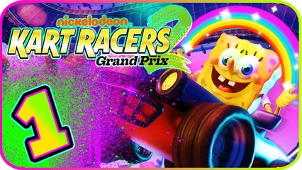 Nickelodeon Kart Racers 2 Part 1 (PS4, XB1, Switch) Spongebob - Hairball Cup