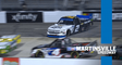 Round of 8 drivers bump and battle out front at Martinsville