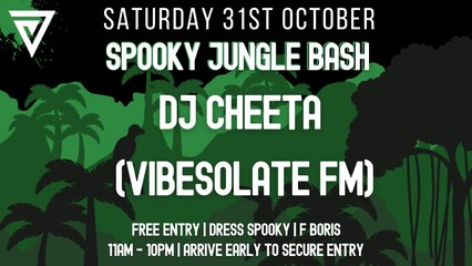 Spooky Jungle Bash: DJ Cheeta