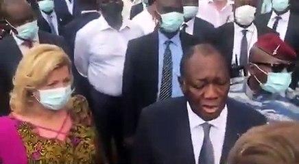 Interrogé sur le sujet du 3e mandat, Alassane Ouattara pique une colère