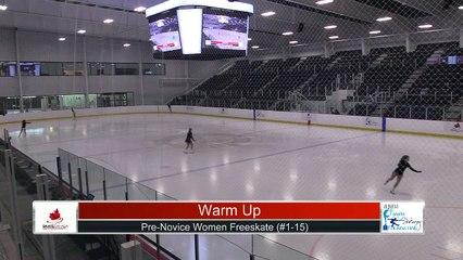 Pre-Novice Women Free Program Part 1 - 2021 Skate Canada: Alberta-NWT/Nunavut Sectional Championships