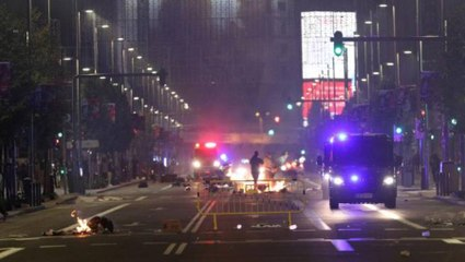 Disturbios en Madrid: '¡Pedro Sánchez, hijo de puta!'