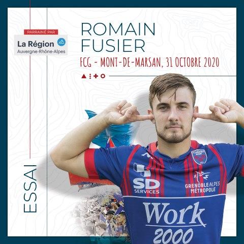 Rugby : Video - L'essai marqué par Romain Fusier face à Mont-de-Marsan, saison 2020-2021
