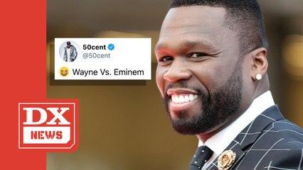 50 Cent Jokes About Eminem & Lil Wayne Facing Off In Political Battle