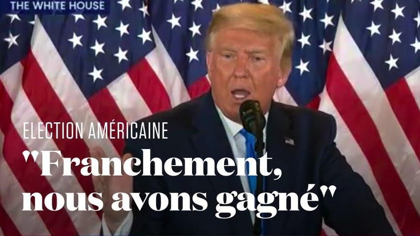 Donald Trump revendique sa victoire à l'élection présidentielle américaine
