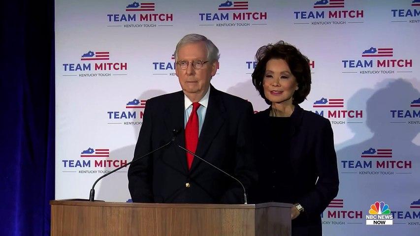 Watch  Senator Mitch McConnell Gives Victory Speech