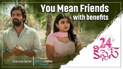 Adith Arun convincing Hebba Patel in a romantic way | 24 Kisses Movie Streaming on Amazon Prime