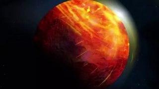 Un mundo con un mar de lava cubierto por una atmósfera de vapor de roca
