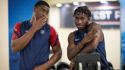 Les Parisiens poursuivent l'entraînement