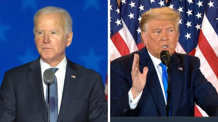 Presidential Election 2020: Joe Biden and Donald Trump Speak Out on Unsure Election Night