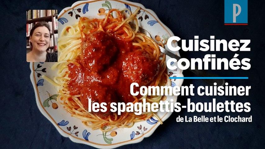 Comment cuisiner des spaghettis aux boulettes de viande à la «Belle et le clochard»