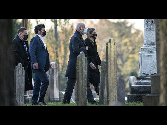 Joe Biden visits son Beau's grave on Election Day morning
