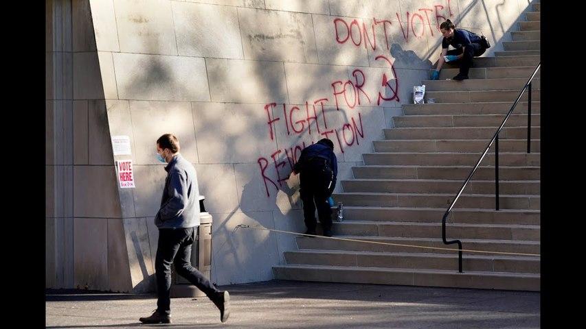 Anti-voting graffiti scrawled on WWI Museum in Kansas City
