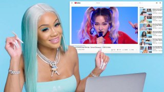 Saweetie Watches Fan Covers On YouTube