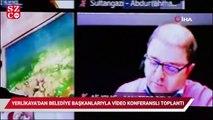 İstanbul Valisi Yerlikaya'dan belediye başkanlarıyla video konferanslı top