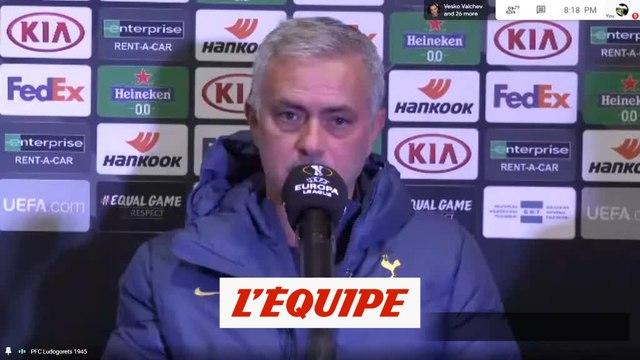 Mourinho : « Une bonne attitude dès le départ » - Foot - C3 - Tottenham