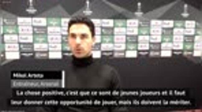 """Groupe B - Arteta se sent """"chanceux"""" avec ses jeunes joueurs"""