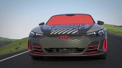 النموذج الأولي لسيارة Audi e-tron GT - الإدارة الحرارية - القيادة