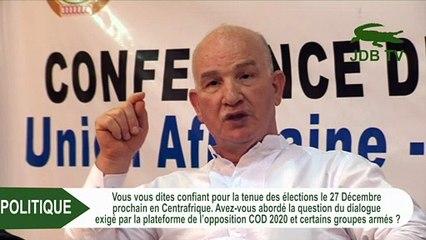 GILBERTO DA PIEDADE: Nous voulons que les élections se tiennent dans de bonnes conditions