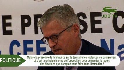 Crise électorale: JEAN PIERRE LA CROIX s'est exprimé sur les violences en Centrafrique
