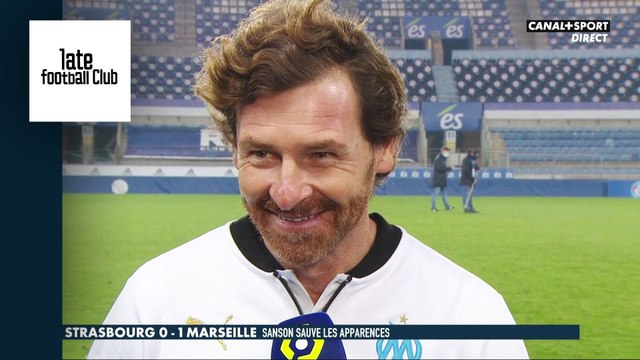 La réaction d'André Villas-Boas après Strasbourg - Marseille