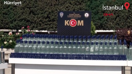 Pendik'te sahte içki operasyonu; 6 ton 525 litre etil ve metil alkol ele geçirildi