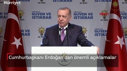 Cumhurbaşkanı Erdoğan, Demokrasi ve Özgürlükler Adası'nda açıklamalarda bulundu