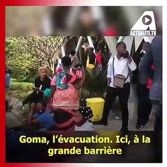 Goma-Nyiragongo: l'évacuation se poursuit vers Sake, Rutshuru, Bukavu et Gisenyi