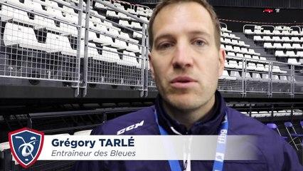 EDF Fem à l'Aren'Ice. Interviews de Grégory Tarlé et Marion Allemoz