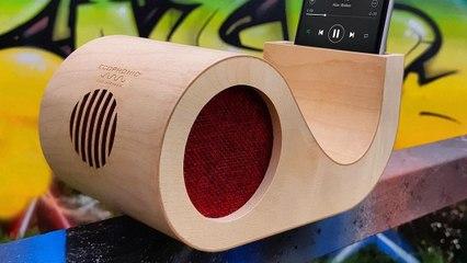 Los altavoces de madera para móvil que demuestran que lo más moderno no siempre es lo mejor